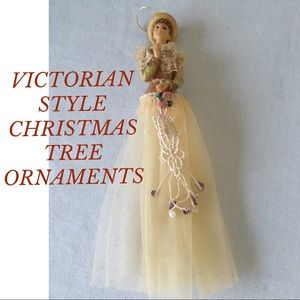 Other - BUNDLE 2 VICTORIAN STYLE CHRISTMAS TREE ORNAMENTS